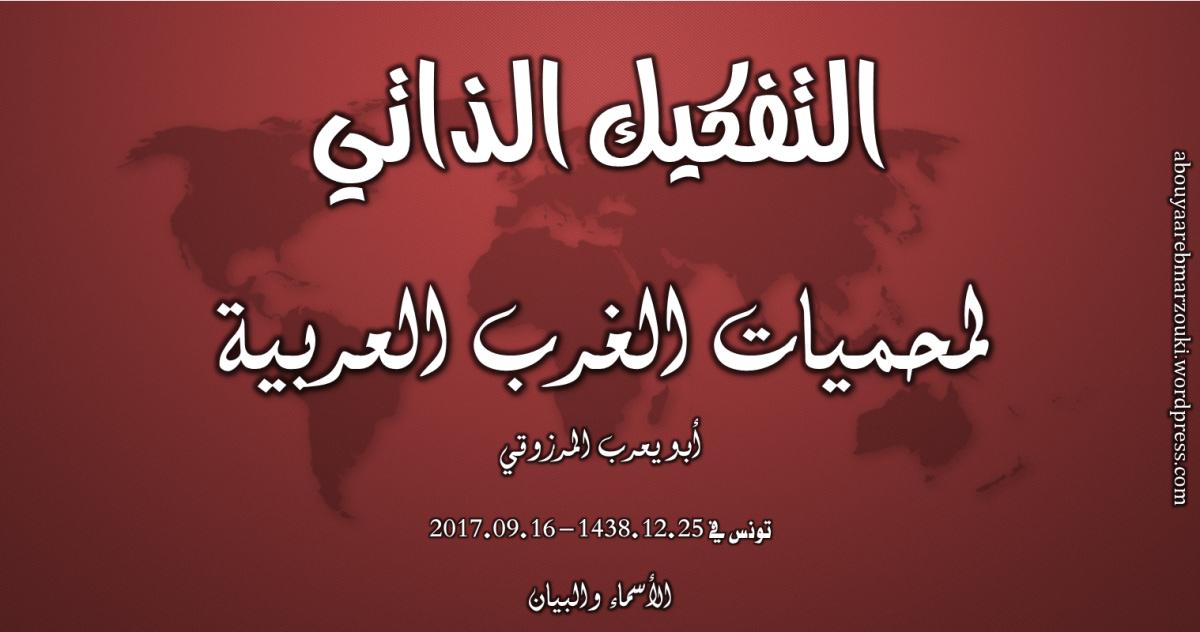 التفكيك الذاتي لمحميات الغرب العربية – أبو يعرب المرزوقي